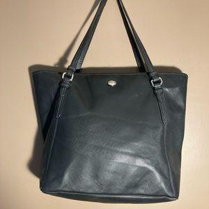 Coach black coated shoulder bag